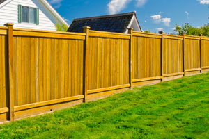 Cedar fence installed in Coraopolis, Pennsylvania