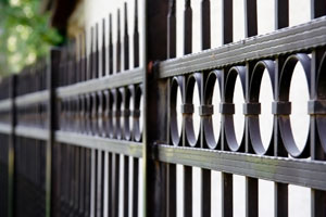 Custom metal fence design in Washington