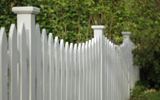 Picket style garden fence