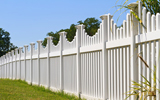 PVC picket fence